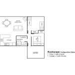 Bushscape 2 Bedroom Layout
